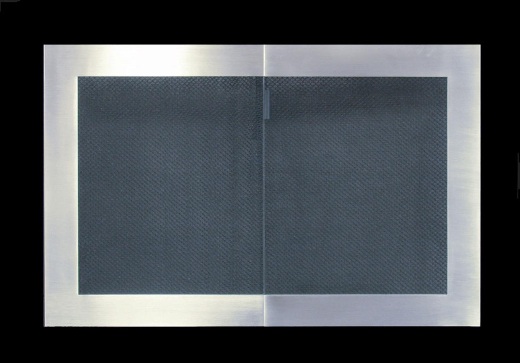 Broadway Door Frame Reveal Satin Black Frame With Brushed Nickel Door