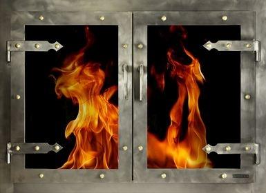 Portland Willamette Steel Door - Grand Forge II Brushed Natural With Strap Hinge Number 2