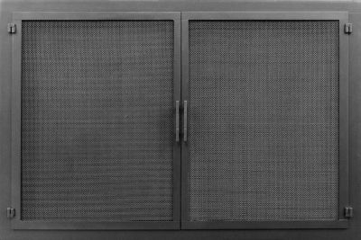 Newport with cabinet mesh doors in Textured Charcoal