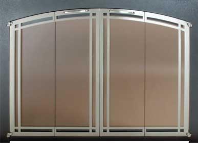 Ovation Arch Door Deco FUll Fold Black Frame Nickel Doors