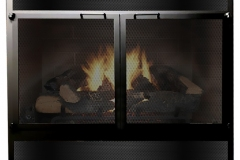Renewal Premium Face with cabinet mesh doors & mesh louvers in Satin Black