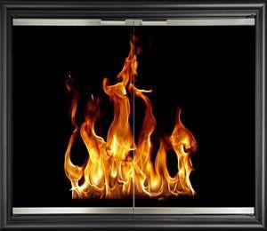 Aluminum Fireplace Doors