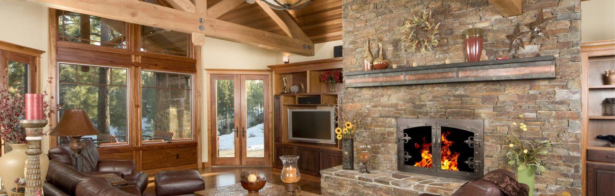 Portland Willamette Room - Grand Forge II Door Arched Cabinet In Brushed Black Copper